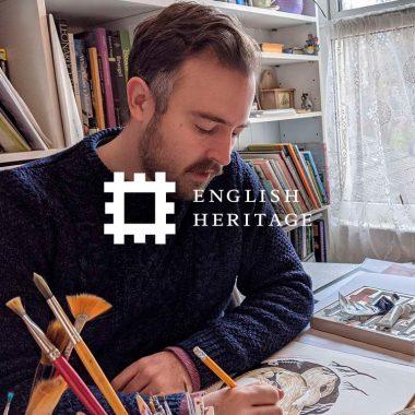 English Heritage virtual draw-along event